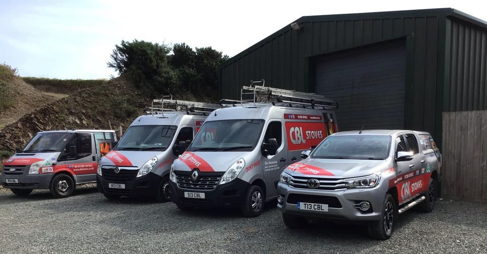 CBL Stoves Devon and cornwall our vans